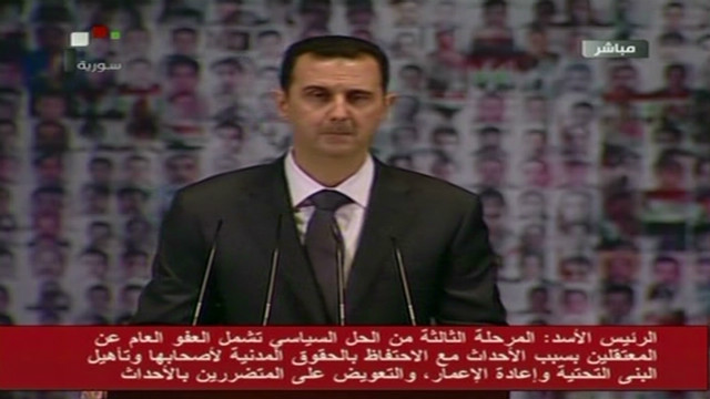 Al-Assad stands firm in televised speech