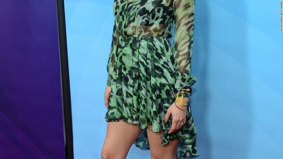 """""""Smash"""" actress Katharine McPhee keeps it casual at the first day of NBC's 2013 Winter TCA  Tour on January 6."""