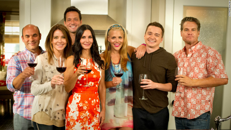 """Cougar Town's"" moved from ABC to TBS after three seasons (like CNN, TBS is a Time Warner company). The show is in the midst of its final season."