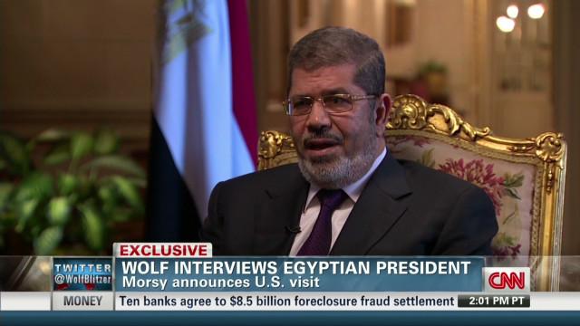 Morsy announces U.S. visit