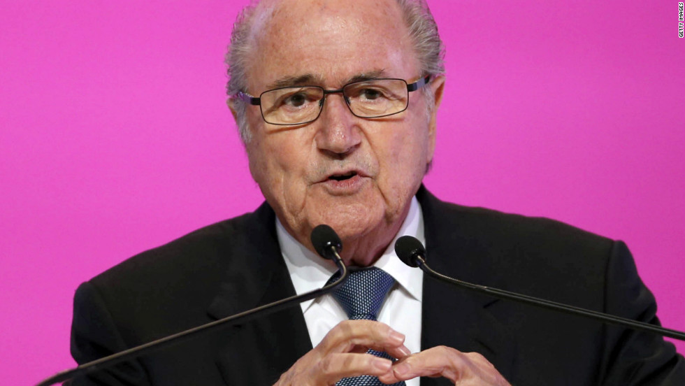 """I don't think you can run away, because then the team should have to forfeit the match,"" FIFA president Sepp Blatter told Abu Dhabi's The National newspaper. ""This issue is a very touchy subject, but I repeat there is zero tolerance of racism in the stadium, we have to go against that. The only solution is to be very harsh with the sanctions (against racism) -- and the sanctions must be a deduction of points or something similar."""