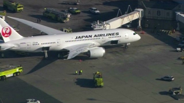 Dreamliner catches fire at airport