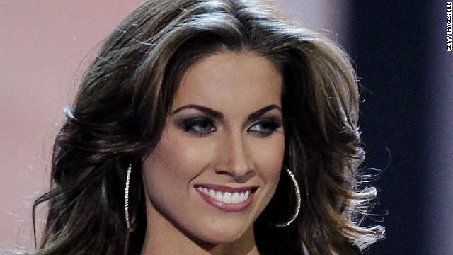 Former Miss Alabama USA Katherine Webb drew just as much attention as her boyfriend Monday night.