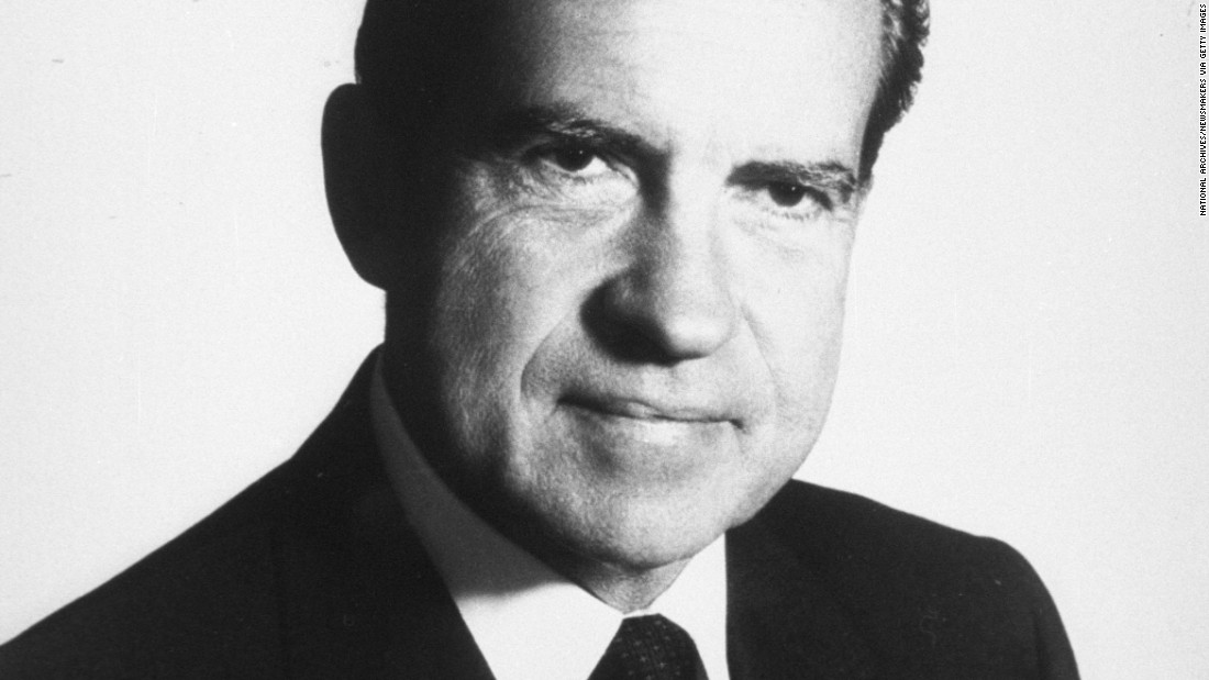 President Richard Nixon was in the White House from 1969 to 1974, when he became
