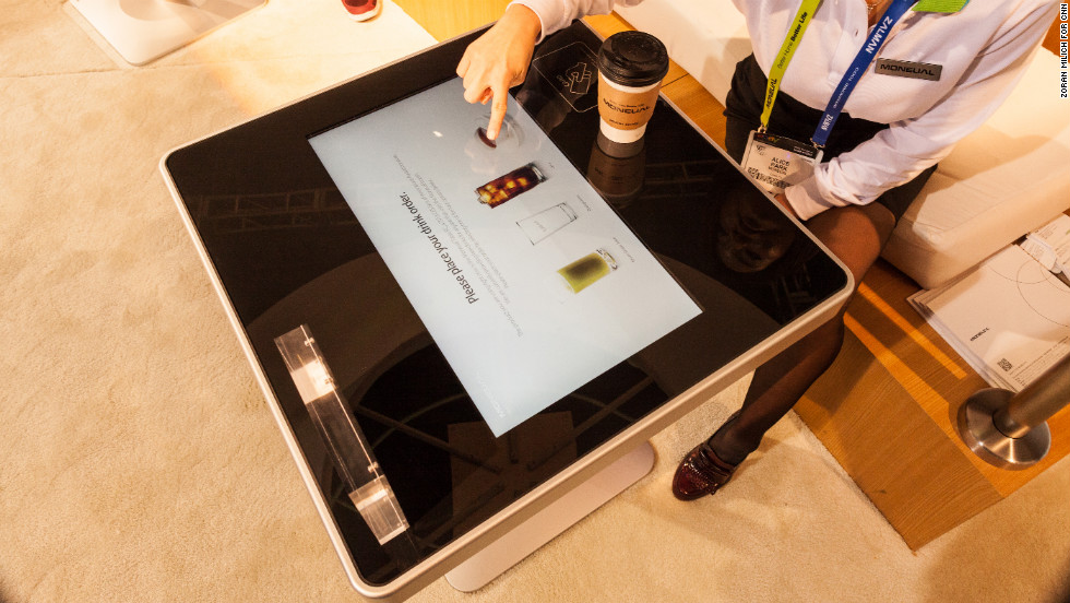 No more annoying waiters! Moneual makes this interactive restaurant tabletop, called Touch Table PC, which would enable customers to browse menus, order food and pay directly from the table.