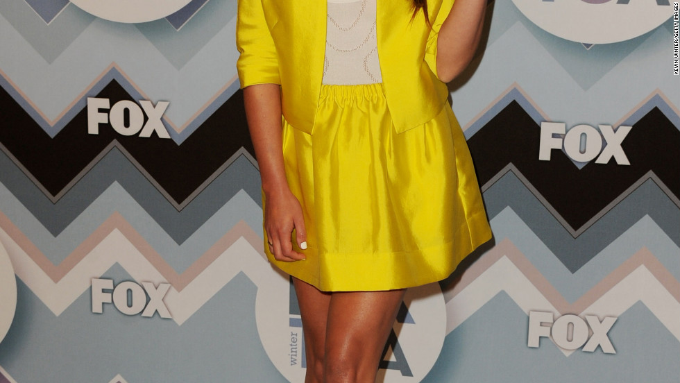 Lea Michele arrives at an event in Pasadena, California.