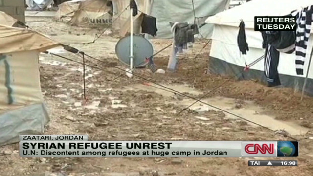 Unrest at Syrian refugee camp