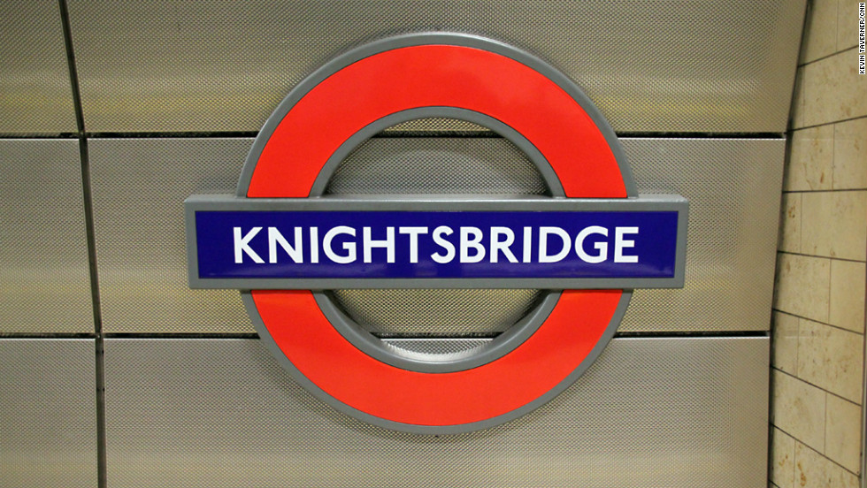 Knightsbridge is known for its upmarket boutiques and department stores, including Harrods and Harvey Nichols.