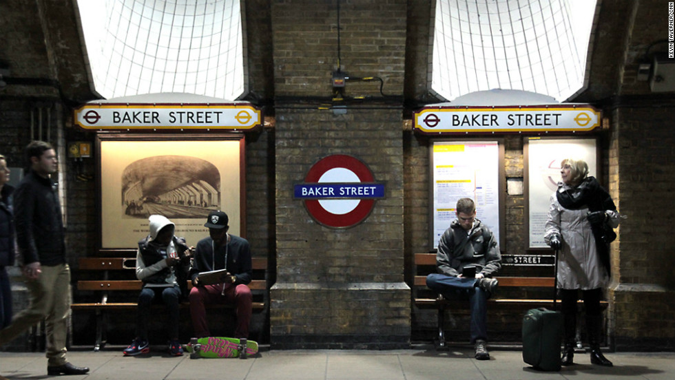 Baker Street was one of the original stops on London's Underground system. The station, near the home of fictional detective Sherlock Holmes, opened in 1863.
