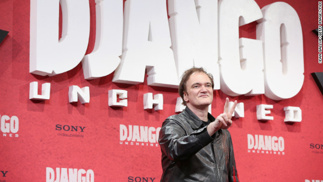 "Director Quentin Tarantino attends the Berlin premiere of ""Django Unchained"" in January."