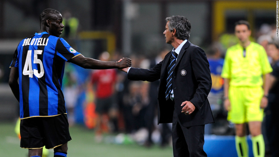 Balotelli joined Manchester City from Italian club Inter Milan. His relationship with Inter coach Jose Mourinho endured numerous ups and downs. Disciplinary issues littered his time at the San Siro and the situation came to a head in March 2010, when Balotelli was left out of Inter's squad for a Champions League tie after an altercation with Mourinho.