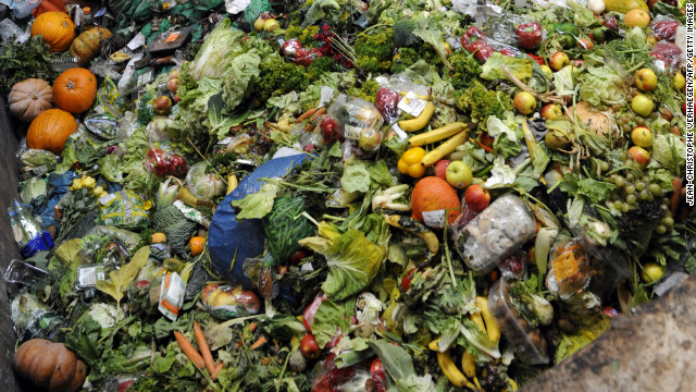 Waste food products stocked at the Methavalor factory in Morsbach, France on October 23, 2012.