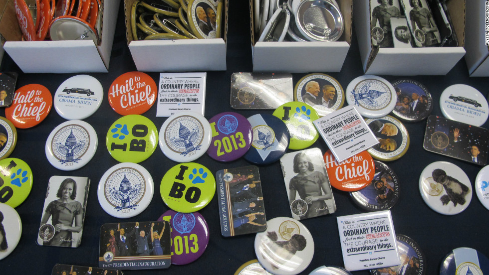 "At two for $5, buttons are the most popular item at the store. ""Everyone wants a button to have a piece of the day,"" Marketing Director Meaghan Burdick said."