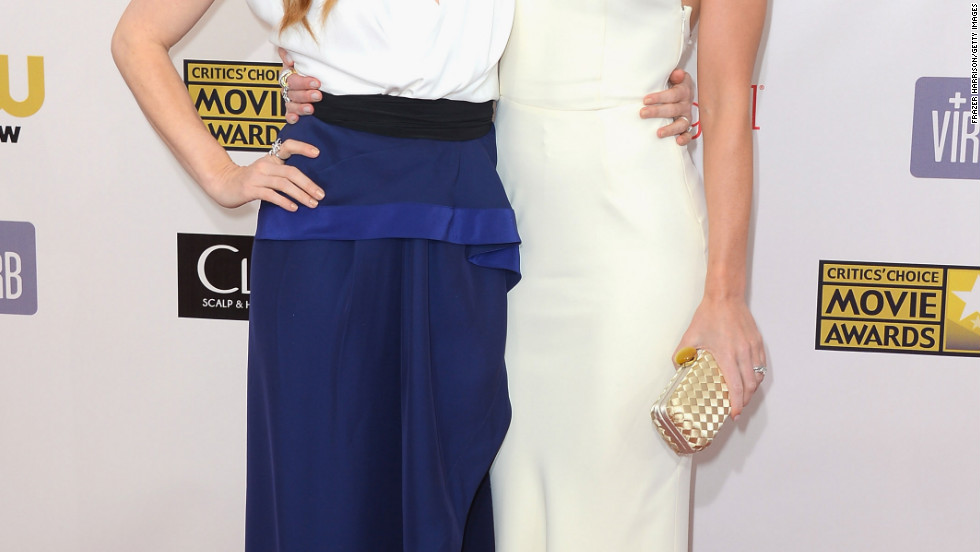 Amy Adams and Emily Blunt arrive at the Critics' Choice Movie Awards.