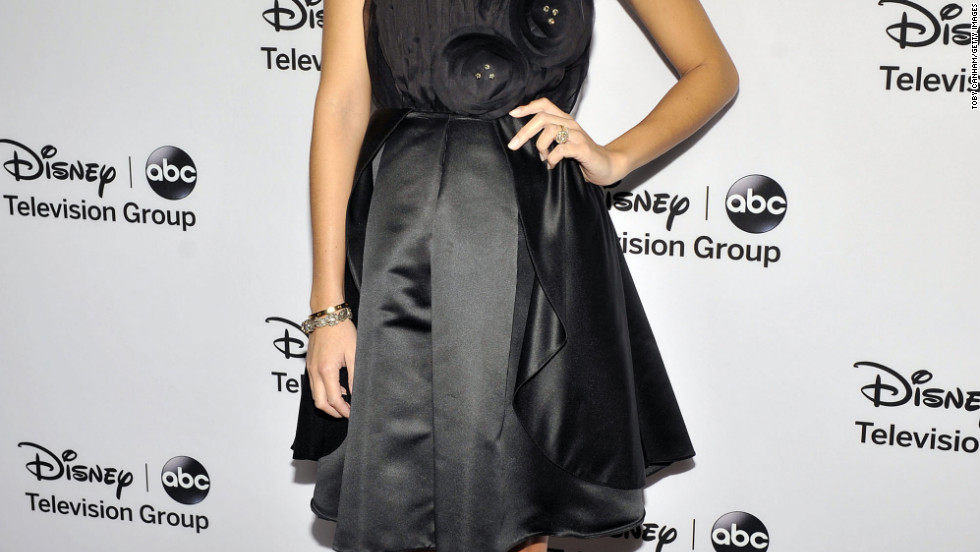 Ashley Madekwe attends an event in Pasadena, California.
