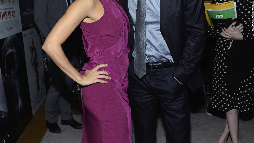Eva Longoria and Paul Wesley attend the Critics' Choice Movie Awards.
