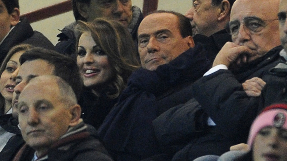 """Berlusconi is an opportunist, who will say anything to win short-term support,"" Italian historian John Foot -- the author of the authoritative book on Italian football ""Calcio"" -- told CNN, in reference to the AC Milan owner's support for Boateng after the player walked off the pitch. ""His comments are hypocritical at best, especially given his alliance with anti-immigrant and far-right parties, and his comments on Barack Obama (he called him 'sun-tanned'),"" added Foot. Berlusconi is pictured in the center, wearing a scarf."