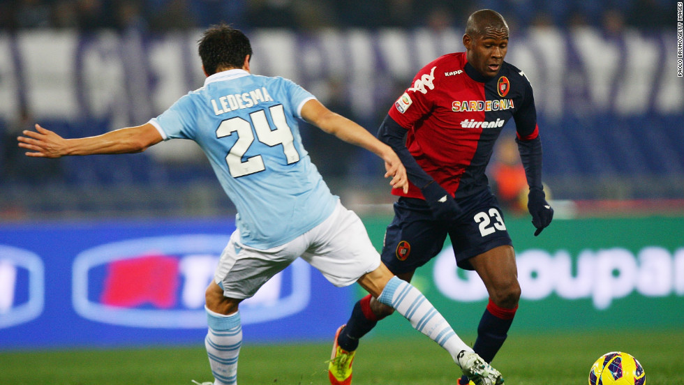 Two days after Boateng's walkoff, some sections of Lazio's crowd at Rome's Olympic Stadium were heard making monkey noises at Cagliari's Colombian striker Victor Ibarbo. However, the  majority of the home crowd jeered and whistled to drown out the racists.