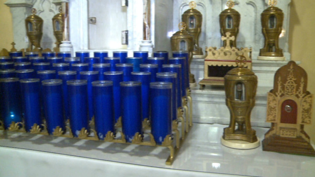 Precious relics stolen from church
