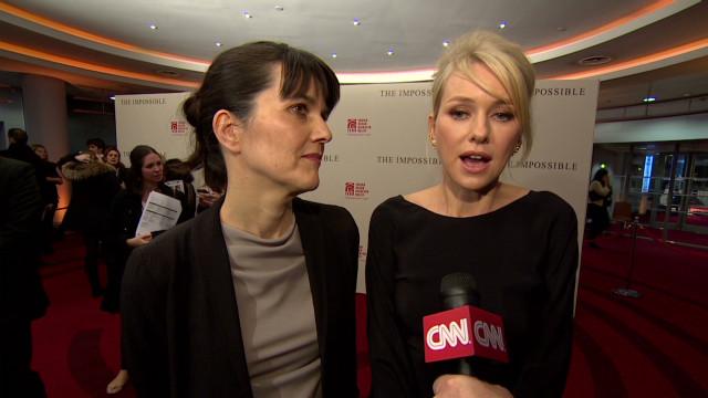Actress meets tsunami survivor
