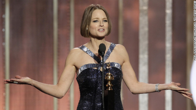 Jodie Foster received the Cecil B. Demille Award during the 70th Annual Golden Globe Awards in Beverly Hills, California.