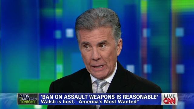 Walsh on gun permits, background checks
