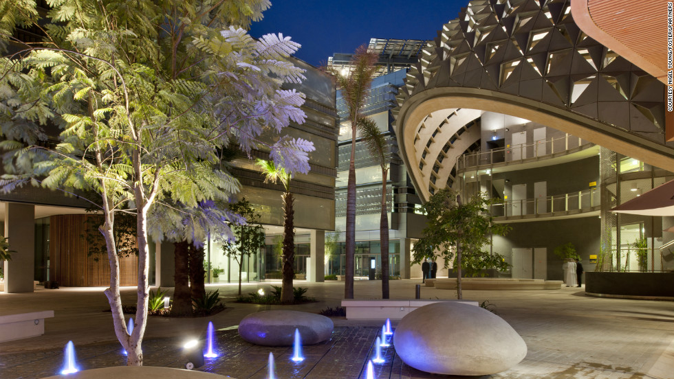 Based in the desert, there is no shortage of sunlight. Masdar City uses this natural resource; 87,777 solar panels provide the city with carbon-free energy. However, the managers of Masdar City have admitted they are not close to being a carbon-free community.