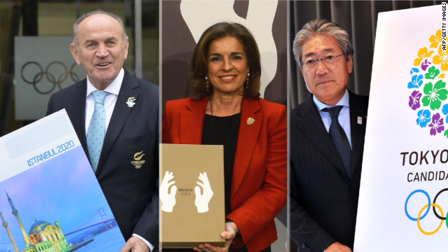 Representatives of Istanbul, Madrid and Tokyo are in the running to host the 2020 Summer Olympics.