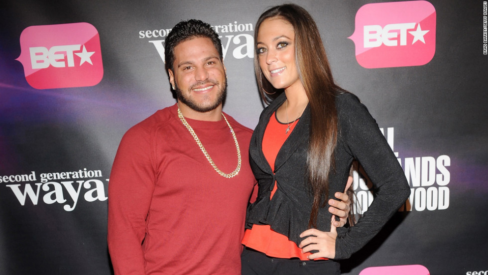 """Jersey Shore"" stars Ronnie Ortiz-Magro and Samantha Giancola attend a BET event in New York City."