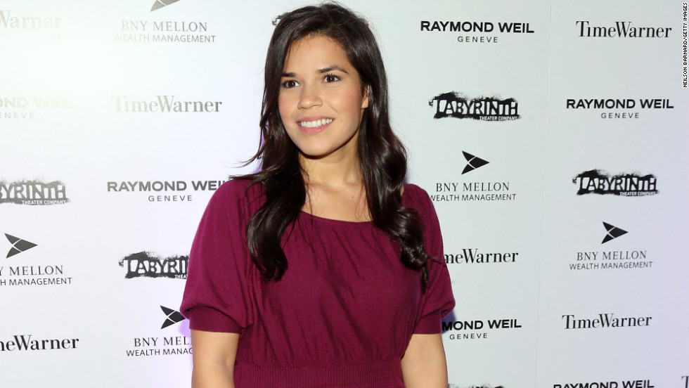 America Ferrera attends a celebrity charades benefit gala in New York City.