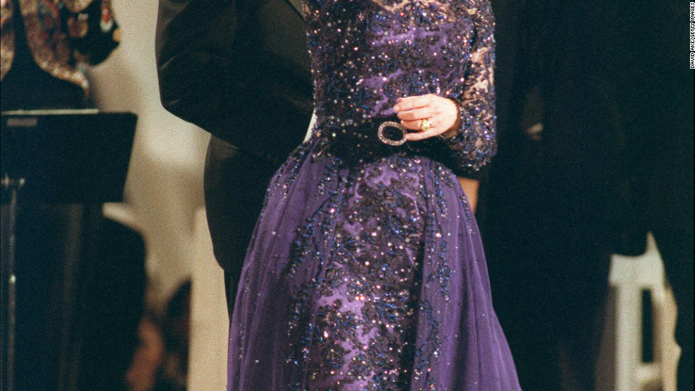 President Bill Clinton and Hillary Clinton dance during the 1993 Arkansas Inaugural Ball.