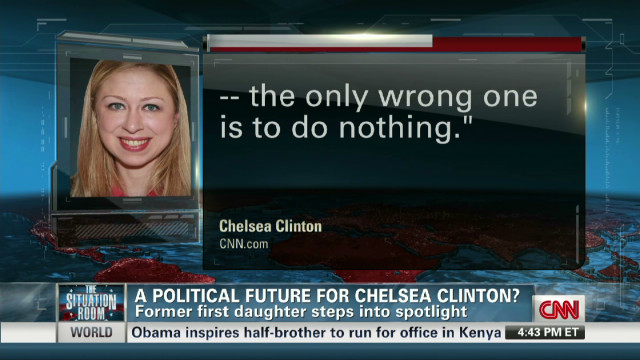 Political future for Chelsea Clinton?