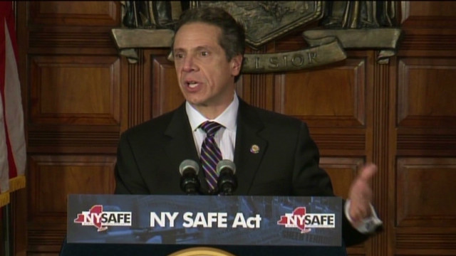 Cuomo: Gun control law is 'common sense'