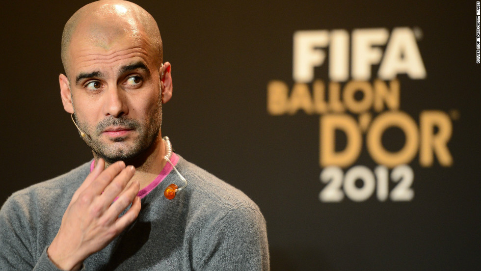 Pep Guardiola has been on a year-long sabbatical in the U.S. after stepping down as Barcelona coach, but he returned to Europe in January for the Ballon d'Or when he was shortlisted for FIFA's world coach of the year award.
