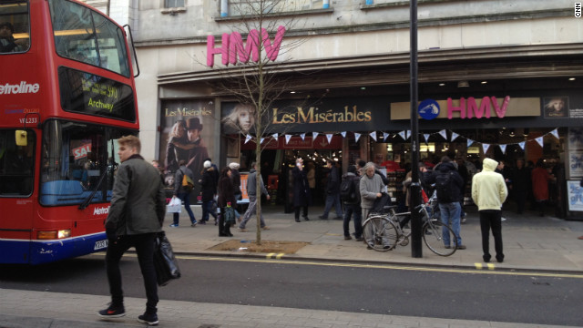The HMV store on London's Oxford Street. The 90-year-old high street music retailer is going into administration.