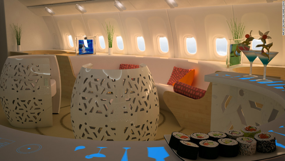 AirJet Designs' founder, Jean-Pierre Alfano, believes in-flight casinos will appeal to passengers primarily as a social space. There are worse ways to beat leg cramps.