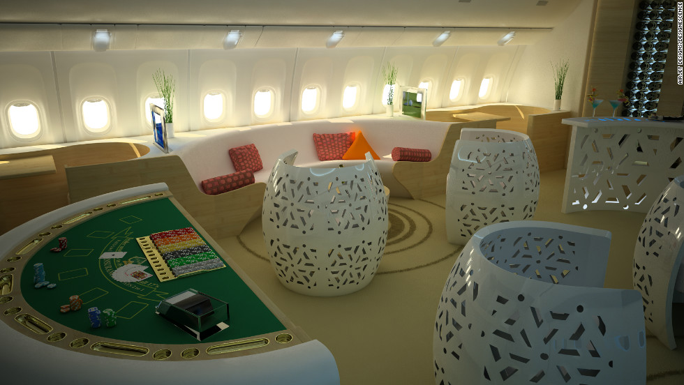 French aviation designers AirJet Designs and Designescence have teamed up to create the Casino Jet Lounge, an in-flight casino that they envision will be the next big thing in aviation.
