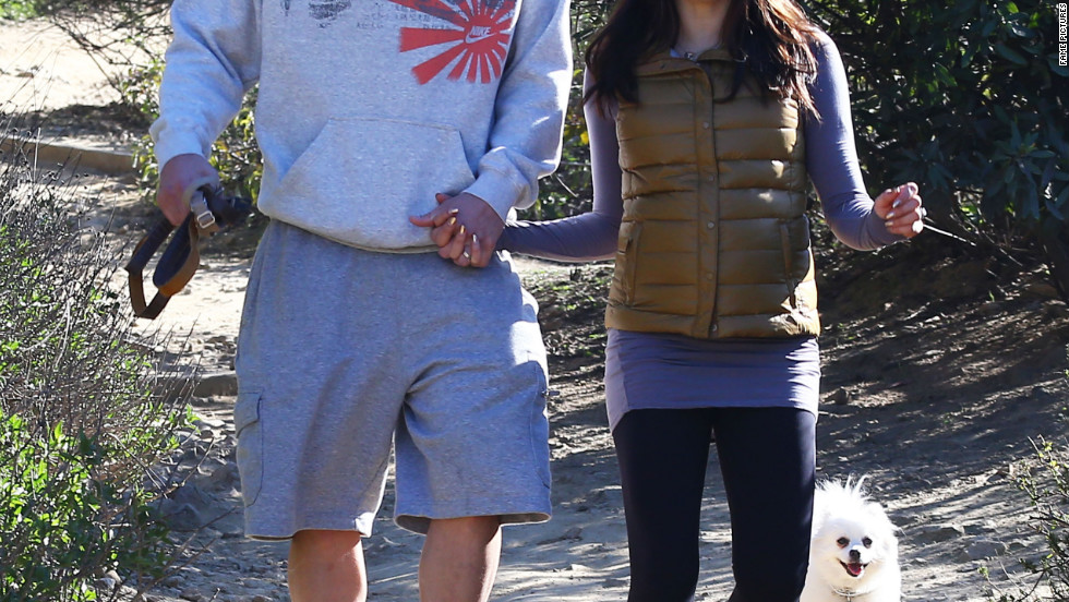 Channing Tatum and Jenna Dewan-Tatum go for a hike with their dogs in Los Angeles.