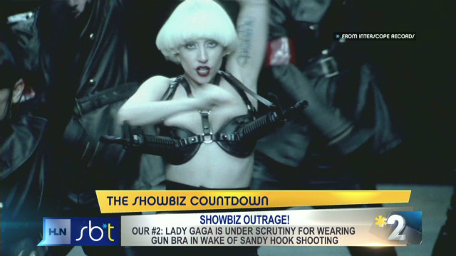 Should Lady Gaga apologize for gun bra?