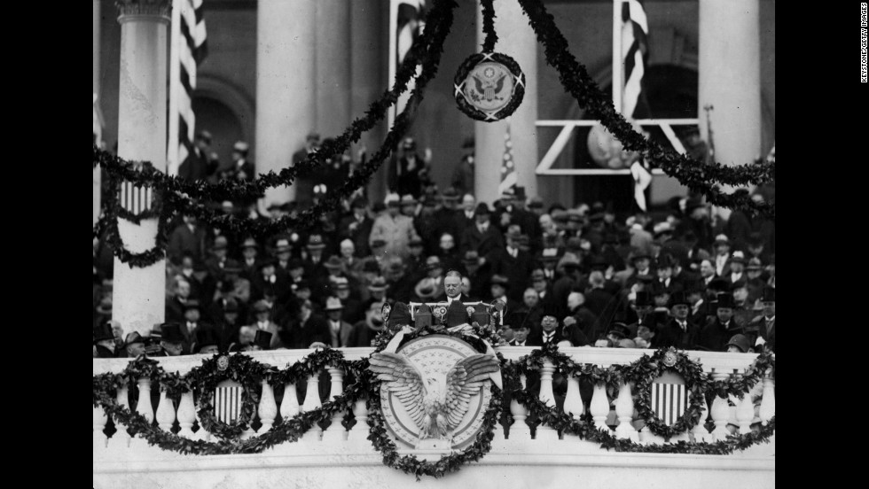 Herbert Hoover's inauguration is held on March 4, 1929.