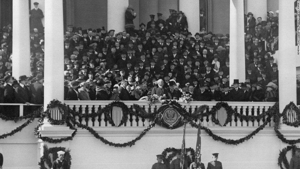 Warren G. Harding is sworn in on March 4, 1921.