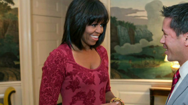 First lady reveals new look