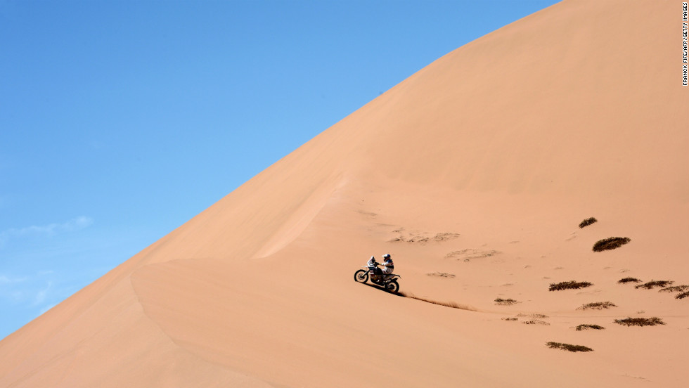 Francisco Chaleco Lopez of Chile competes during Stage 12 of Dakar 2013 on January 17.