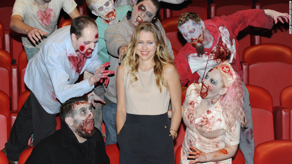 """Teresa Palmer attends the photocall for her new movie """"Warm Bodies"""" in London."""
