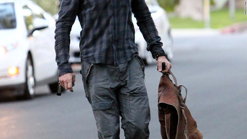 Gerard Butler runs errands in Beverly Hills.