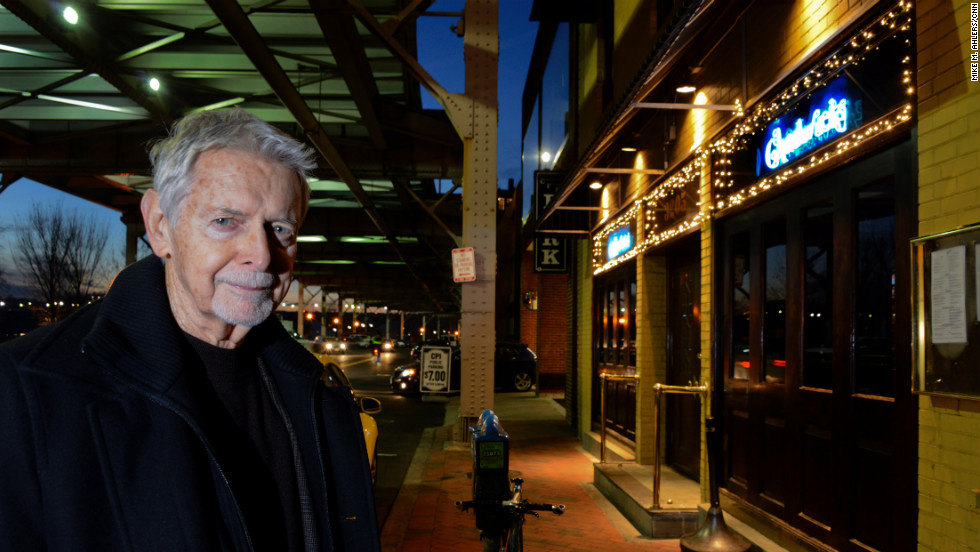 Peter Earnest is founding executive director of the International Spy Museum and a 35-year veteran of the CIA. He is pictured outside Chadwicks in Georgetown -- where CIA agent Aldrich Ames gave classified information to a Soviet diplomat.