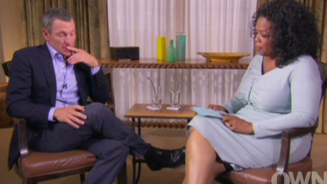 Armstrong emotional over apology to son
