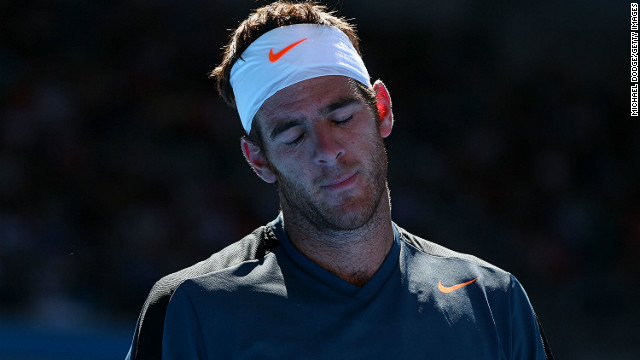 Juan Martin del Potro's Australian Open ended on Saturday when he was beaten by France's Jeremy Chardy in the third round.