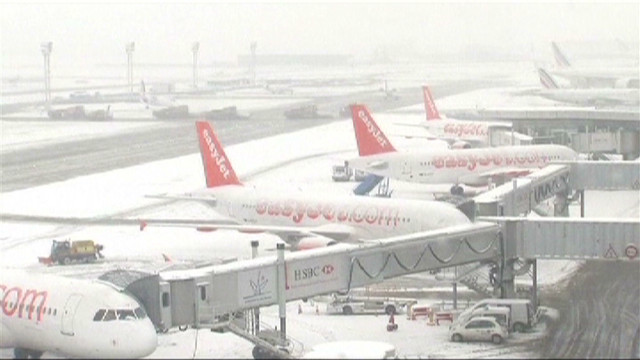 Snowstorms hit Europe