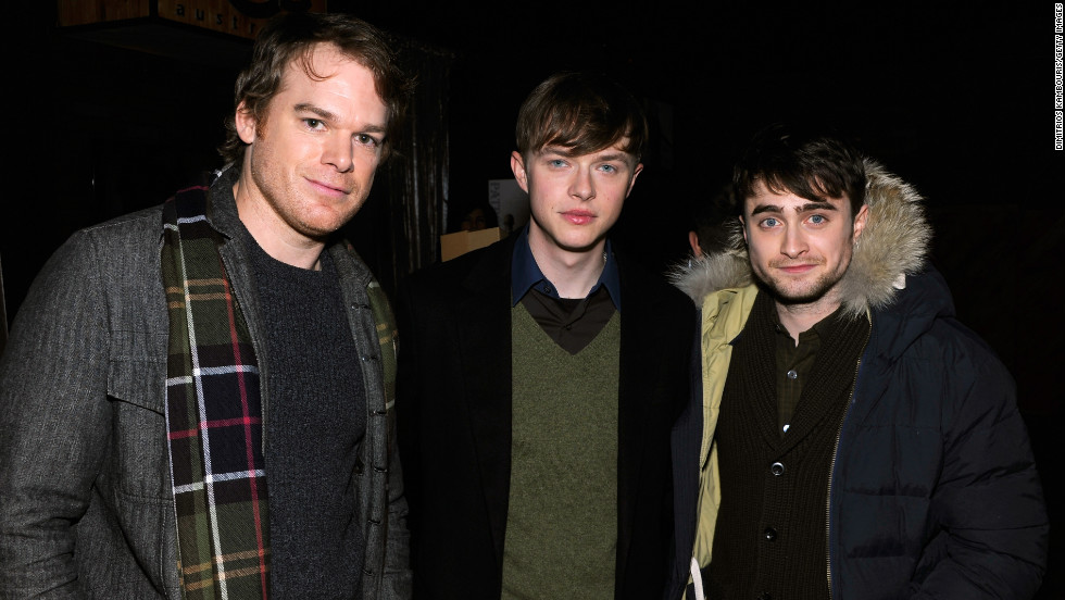 Michael C. Hall, from left, Dane DeHaan and Daniel Radcliffe at Village at the Lift.
